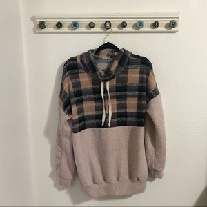 NWOT Pink Plaid Madison + Mallory Pullover Sweater